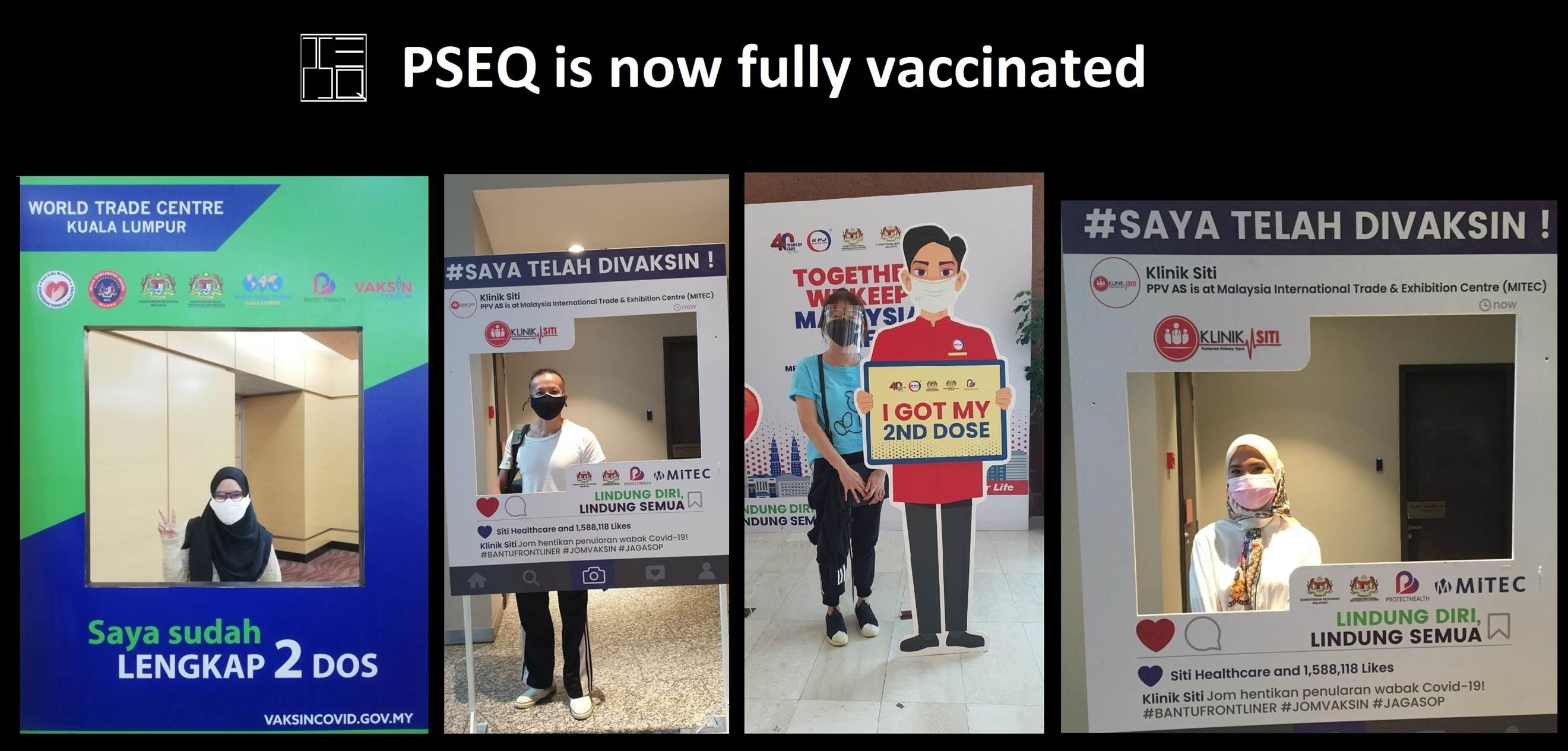 We are now fully vaccinated and ready to face the challenges of the new norm.  Meanwhile. please continue to stay safe and stay vigil against Covid